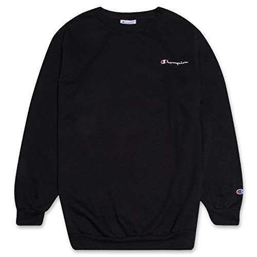 Champion Crewneck Fleece Sweatshirt for Men's Big and Tall with Script Logo