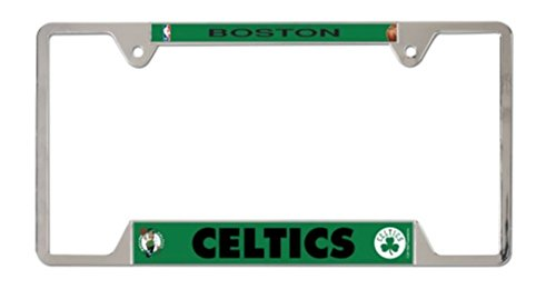 WinCraft NBA Boston Celtics 6x12 inch Metal/Chrome License Plate Frame