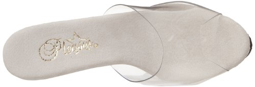 Pleaser Adore-701ls - Sandalias Mujer - Clear/Silver