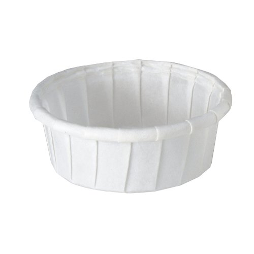 Solo 050S-X2050 0.5 oz Treated Paper Portion Cup (Case of 5000) (0.5 Paper Ounce)