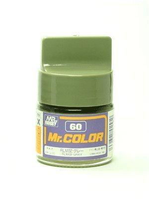 Gundam Mr. Color 60 - RLM02 Gray (Semi-Gloss / Aircraft) Paint 10ml. Bottle Hobby