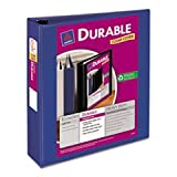 (3 Pack Value Bundle) AVE17034 Durable View Binder with Slant Rings, 11 x 8 1/2, 2'' Capacity, Blue