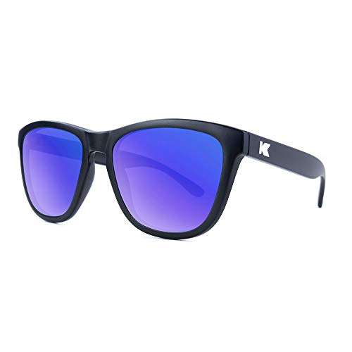 Knockaround Premiums Polarized Sunglasses With Matte Black Frames/Blue Reflective ()
