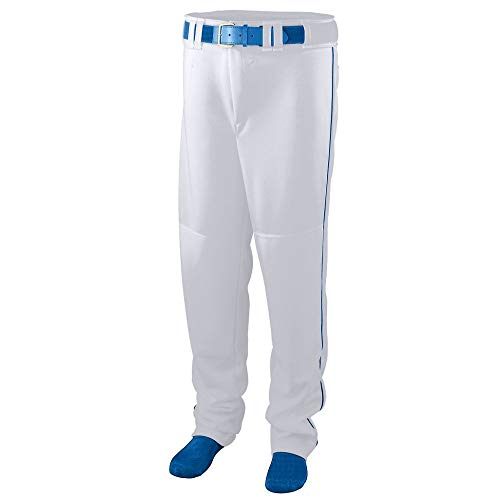 - Augusta Sportswear Augusta Series Baseball/Softball Pant with Piping, White/Royal, Medium