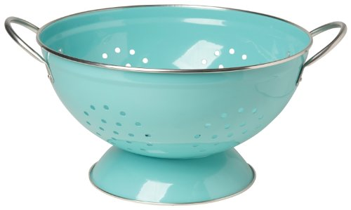 Now Designs Metal Colander, 3-Quart, Turquoise - 5005003aa