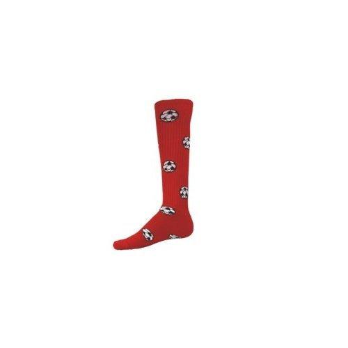 Red Lion Socks サッカーボール柄アスレチックソックス B008EMEH82 Medium|レッド レッド Medium