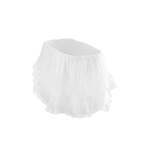 bkb Bassinet Petticoat, White, 13