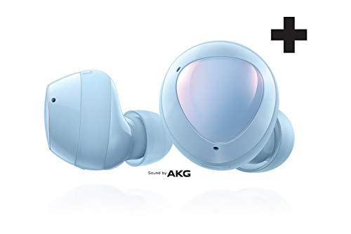 Samsung Galaxy Buds+ Plus, True Wireless Earbuds w/improved battery and call quality (Wireless Charging Case included), Cloud Blue- US Version