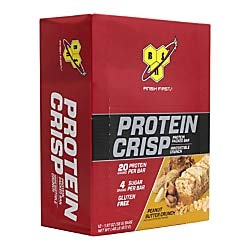 BSN Finish First Protein Crisp Protein Bars, Peanut Butter Crunch, 1.97 Oz, Box Of 12 Bars by BSN