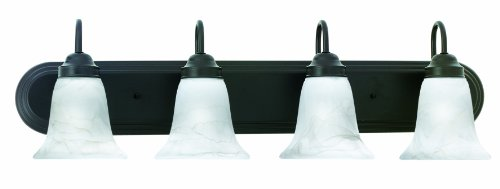 Thomas Lighting Sl7584-63 Homestead Transitionally Styled Four-Light Bath Fixture, Painted Bronze