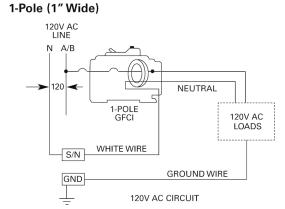 siemens qf130 30 amp 1 pole 120 volt ground fault circuit single pole gfci wiring diagram