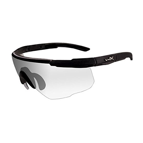 Wiley X Saber Advanced Sunglasses, Clear, Matte Black by Wiley X