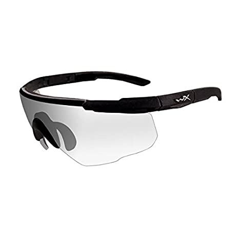 7df48874d15e Amazon.com : Wiley X Saber Advanced Sunglasses, Clear, Matte Black ...