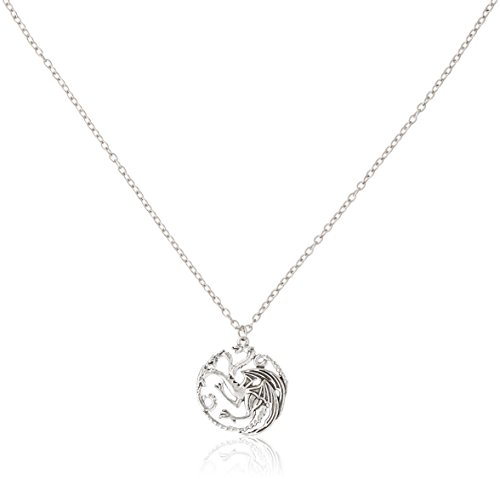 Ali Game of Thrones Inspired Targaryen Silver Color Pendant Costume Necklace ()