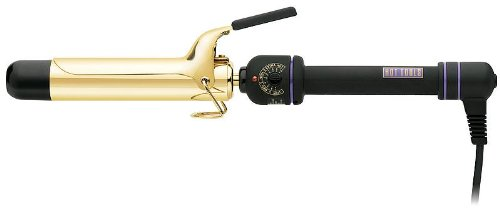 """Hot Tools Professional Hair Curling Iron, 1/2"""" Inch 24 K Gold Plated Barrel, with Extra High Heat and Fast Heating, Features Built-In Rheostat Control with 10 Variable Heat Settings up (1/2 High Heat Curling Iron)"""