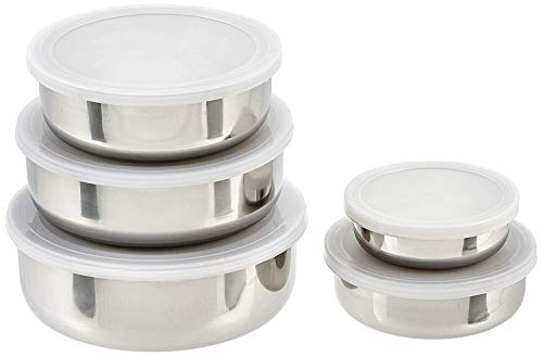 5pc imp Stainless Steel Bowls with lid