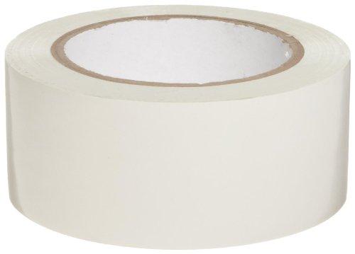Brady 108 Length, 2 Width, B-725 Vinyl Tape, White Color Aisle Marking Tape