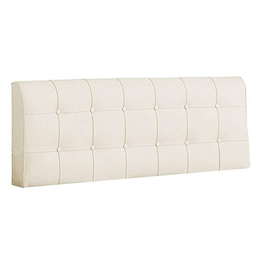 LIQICAI for Without Headboard Faux Leather Material Padded with High Resilience Foam Elegant and Ergonomic, 10cm Thickness, 4 Colors, 5 Sizes Optional (Color : Cream, Size : 160x10x58cm)