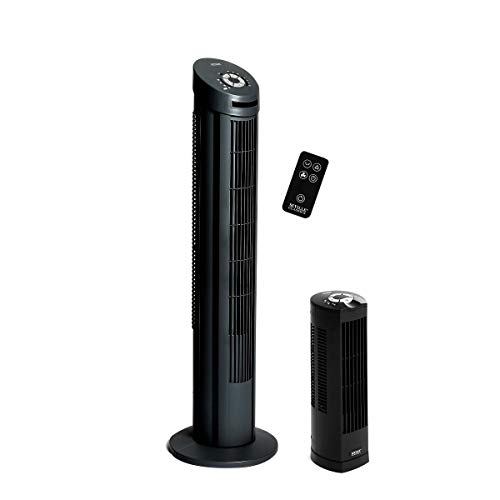 Lowest Price! Seville Classics UltraSlimline Tower Fan Combo Pack, Black