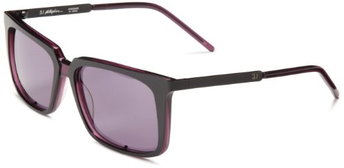3.1 Phillip Lim Juergen Rectangle Sunglasses,Black,55 - Lim Phillip Mens