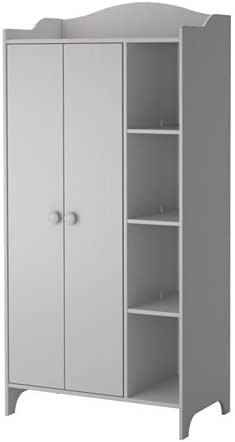 Ikea TROGEN - Armario, Gris Claro - 89x187 cm: Amazon.es: Hogar