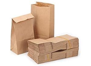 Bolsas de comida de 50 piezas Bolsa de papel marrón Bolsas ...