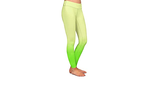 Athletic Yoga Leggings from DiaNoche Designs by Susie Kunzelman Nosegay Milky Blue
