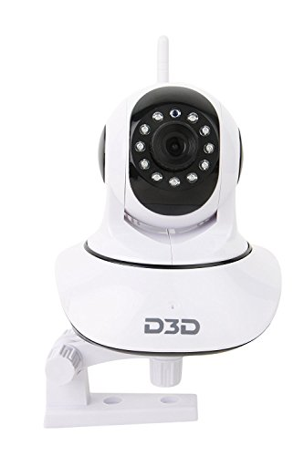 D3D Wireless HD IP WiFi CCTV Indoor Security Camera (Support Upto 128 GB SD Card) (White Color)...