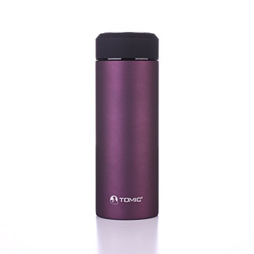 TOMIC Stainless metal Thermos 16 Oz. rise Wall upright vacuum cleaner Insulated having 18/8 metal - maintains Drinks tremendously hot or Cold for 12 Hours. and leisure Mug, Tumbler or norma bottle of wine having a totally removable Tea Strainer (Purple)