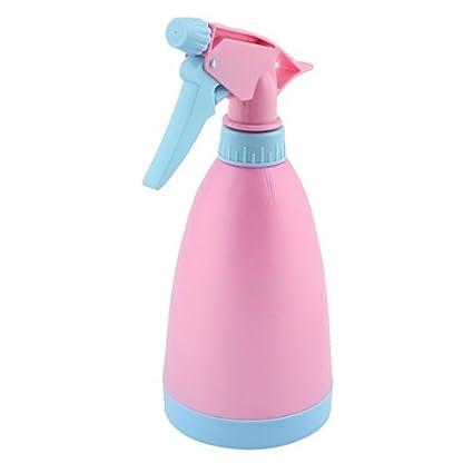 Salón DealMux pelo plástico Jardinería Planta de tiesto del disparador botella de spray 475ml Azul Rosa
