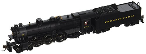 Bachmann Industries PRR K-4S 4-6-2 #3750 Pacific Steam Locomotive with DCC Sound - Post-War with Modern Pilot (N Scale) (2 Pacific Steam Locomotive)