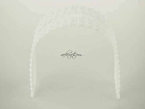 rackcrafts.com Mini Archway Arbor Garden Plastic Cake Topper Wedding Annivesary Bridal Planter Decoration (Planter Arbor)
