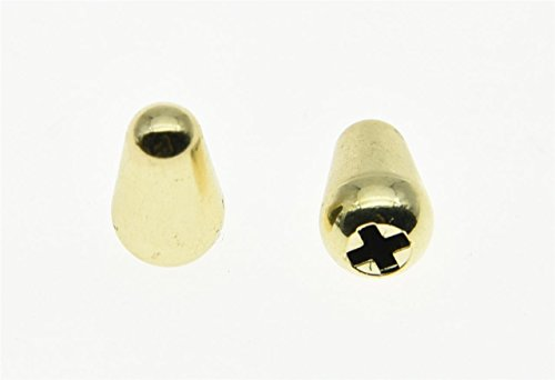 KAISH 2pcs Oak Grigsby CRL Style 5 Way ST Strat Switch Tip Cap Switch Knob Fits USA Fender Stratocaster ()