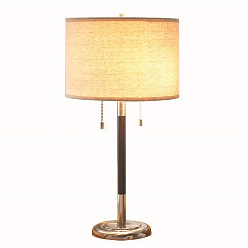allen + roth 26-in Satin Nickel Standard Table Lamp with Fabric Shade 120525