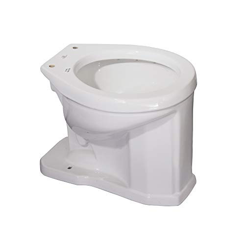 Barclay 2-802WH Victoria Vitreous China Round Front High Tank Toilet, Bowl Only