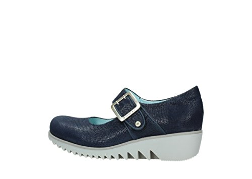 Silky Mary Comfort 20800 Wolky Leather Janes Blue gfvv1q