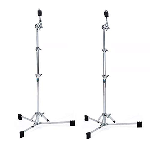 Ludwig Atlas Classic Flat Base Straight Cymbal Stand (2 Pack Bundle)