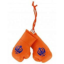 Sikh Khanda Mini Boxing Gloves for Cars or the Home