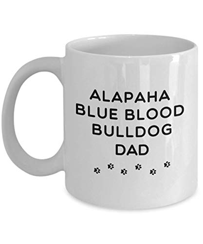 Best Alapaha Blue Blood Bulldog Dog Dad Cup Unique Ceramic Coffee Mug Gifts for Men 1
