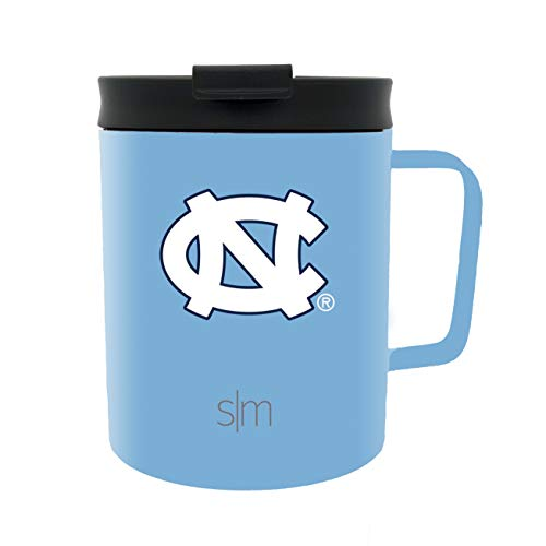 Simple Modern University of North Carolina 12oz Scout Coffee Mug - Vacuum Insulated UNC Tarheels 18/8 Stainless Steel Travel Tumbler Powder Coated Tea Cup