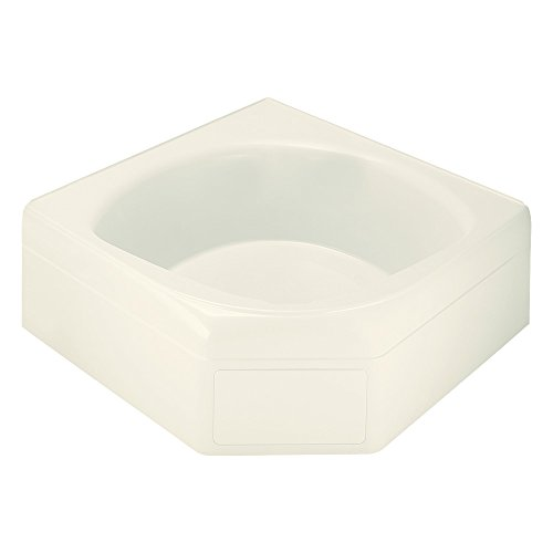 Sterling Plumbing 71131100-96 Ensemble Vikrell 60.25-In Corner Tub with Center Drain, Biscuit