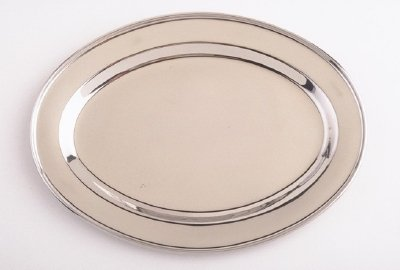 (18 Inch Oval Stainless Steel Serving Platter)