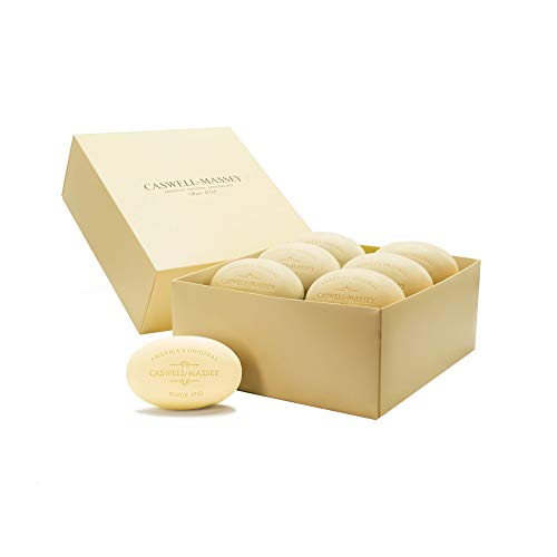 Caswell-Massey Triple Milled Number Six Luxury Bath Soap - Year of Soap Boxed Set – 5.8 Ounce Each, 12 Bars