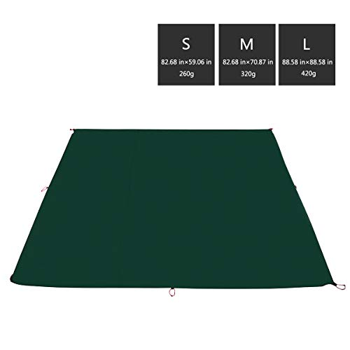 3F UL GEAR Camping Tarp Waterproof Tent Footprint Mutifunctional Durable Picnic Beach Mat with Drawstring Carrying Bag for Hiking Survival (Best Yodo Tents For Rains)