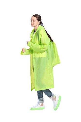 d72370771 Jual Trendcode Unisex Raincoat Reusable Rain Poncho with Hoods and ...