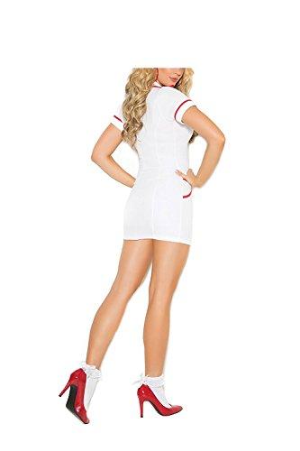 Halloween Costumes Yandy (BABY-QQ Sexy Women's Head Nurse Costume Adult Roleplay Costume 2pc Set Halloween Costume (Medium, White))