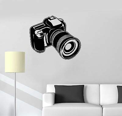 Vinyl Decal Camera Photo Art Photography Room Decor Wall Stickers 3208 (Best Camera For Art Photography)