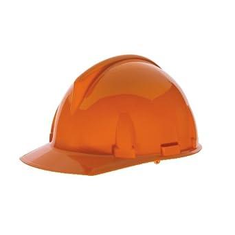 MSA Safety 475382 topgard ranurado tapa protectora con FAS-TRAC Suspensión, estándar, color naranja: Amazon.es: Amazon.es