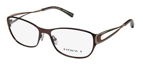 Koali 7259k Womens/Ladies Rx-able Premium Segment Designer Full-rim Eyeglasses/Eyeglass Frame (54-16-135, Mahogany / Copper / Sand) (Segment Rim)
