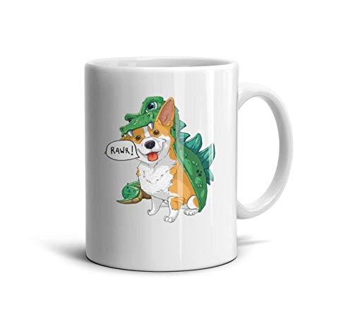 Godfer Arabe Funny Coffee Mugs Corgi Dinosaur Dragon Costume Halloween Novelty Ceramic TeaMugs Shatterproof Cups Festival Gift -